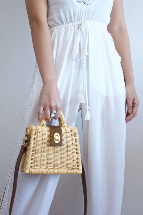 Gigi | Rattan top handle bag | Rue Saint Paul