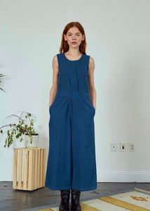 Blue jumpsuit | 100% organic cotton corduroy | Rue Saint Paul