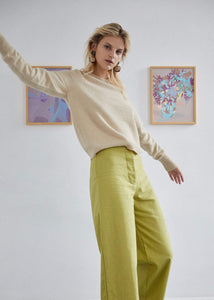 Pistachio wide leg pants | Hemp organic cotton | Rue Saint Paul
