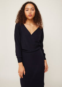 Black sweater dress | Wool and cashmere | Rue Saint Paul