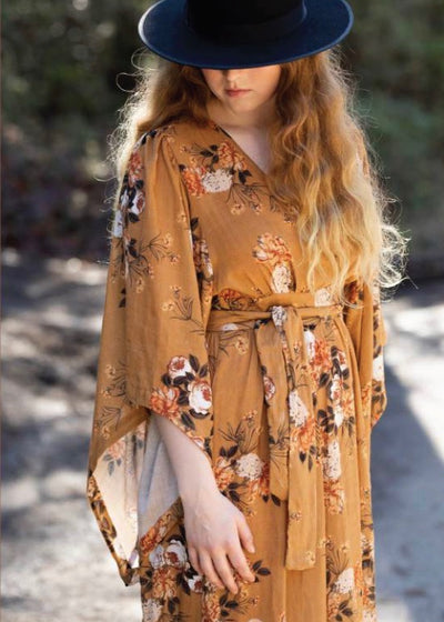 Floral kimono maxi dress | Tysa Designs | Rue Saint Paul