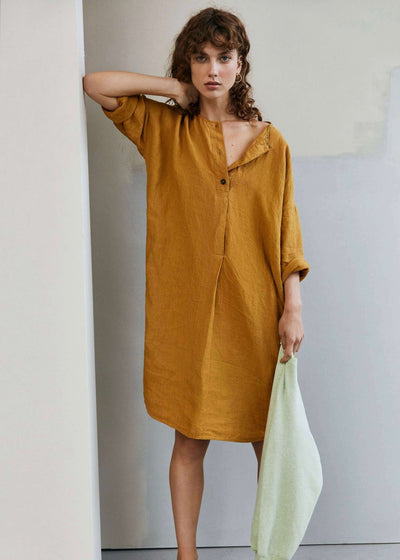 Sylvo | Honey three quarter sleeve tunic | Rue Saint Paul