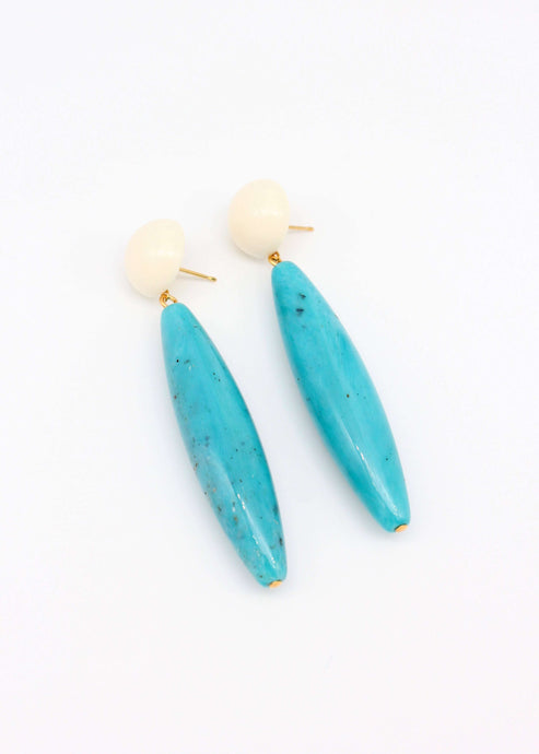 Nantucket Darling | Turquoise drop earrings | Rue Saint Paul
