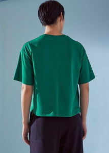 Green boxy tee | 100% organic cotton | Rue Saint Paul