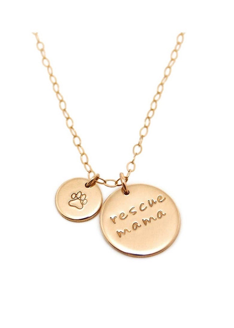 Rescue mama double coin necklace | Conscious Jewelry | Rue Saint Paul