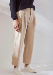 Beige relaxed pants | Certified Organic Cotton | Rue Saint Paul