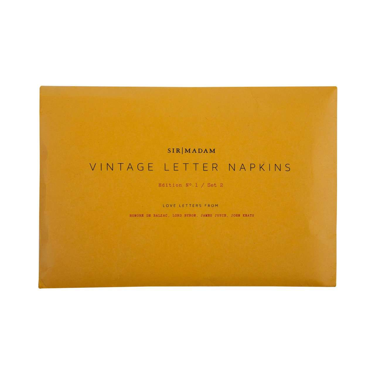 Love Letters | Set of 4 cotton voile lover letter napkins | Rue Saint Paul