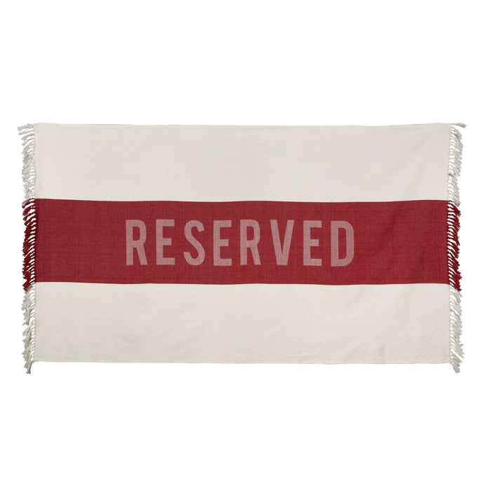 Reserved | Large red Turkish style cotton beach towel | Rue Saint Paul