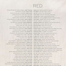 Wine List | Pure linen European kitchen tea towel | Rue Saint Paul