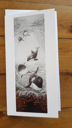 'A Meeting Place' Orca Greeting Card