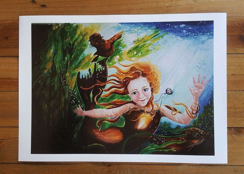 Selkie Child Art Print A3