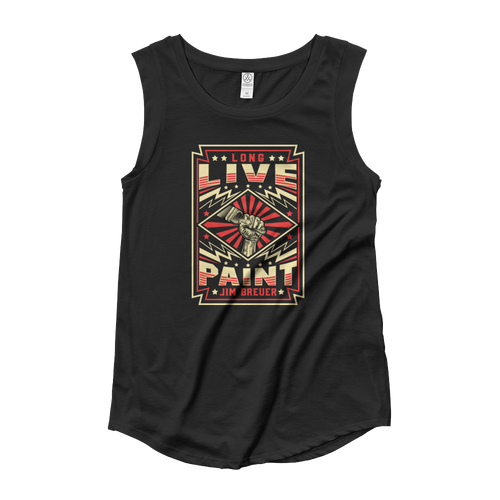 Long Live Paint - Womens Cut Sleeve