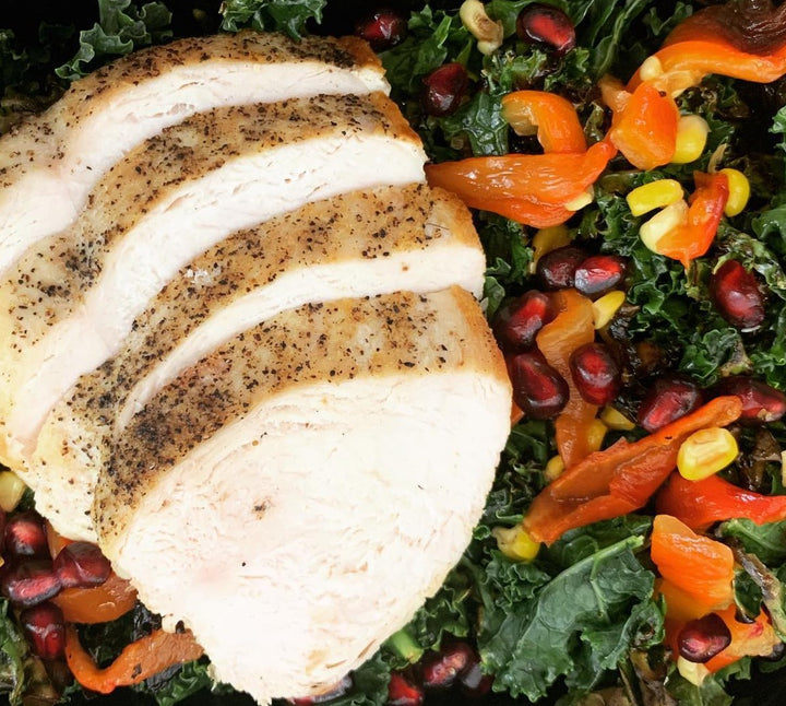BBQ Chicken and Kale Salad