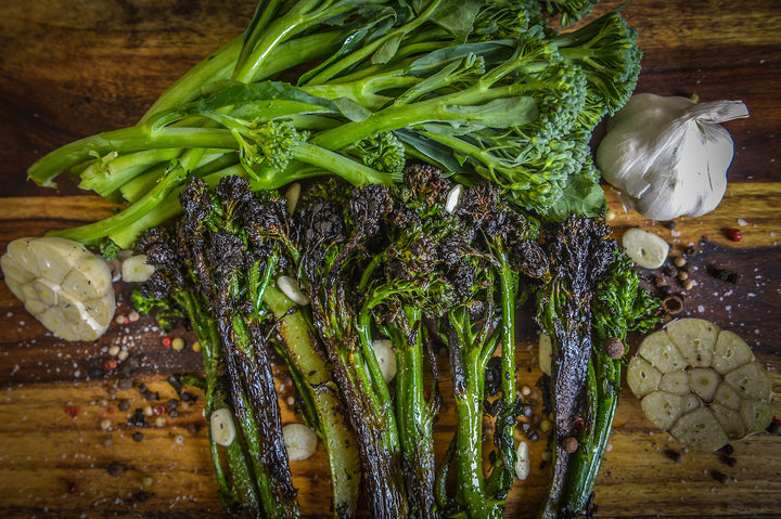 Charred Broccolini (48 calories, 9.4g carb)