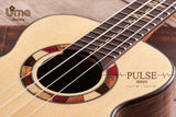 Pulse All Solid Walnut and Engelmann Spruce Fanned Frets Ukulele