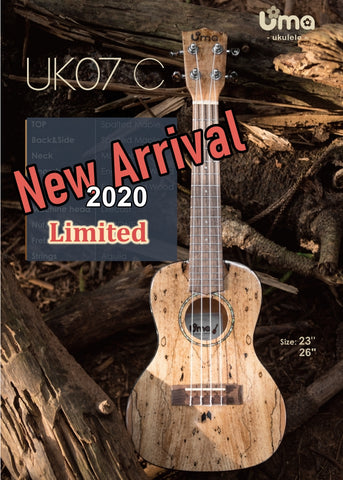Limited UK-07 2020 Model All Spalted Maple Ukulele
