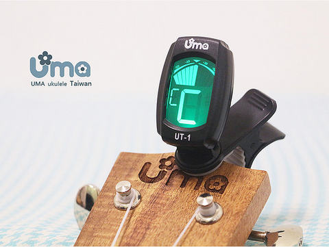Chromatic Clip-on Tuner for ukulele, guitar, violin, bass & more