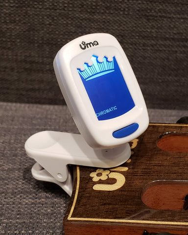 Chromatic Clip-on Tuner for ukulele, guitar, violin, bass or more