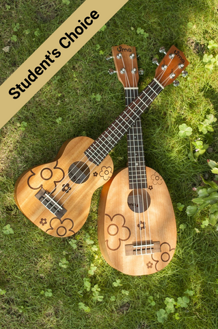 UK-FL Solid Mahogany Carving Ukulele