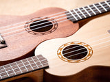 UK SUN Carving Sapele/Spruce Ukulele