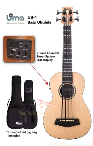 U-B 3-Band EQ Tuner System Solid Bass Ukulele