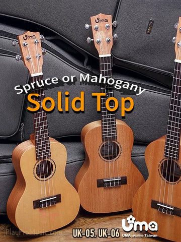 UK-05/06 Solid Mahogany or Spruce Top Ukulele