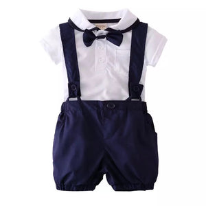 Navy Suspender Set