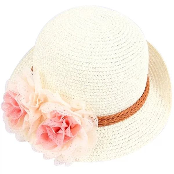 cream straw hat