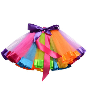 Rainbow tutu & matching hair clip