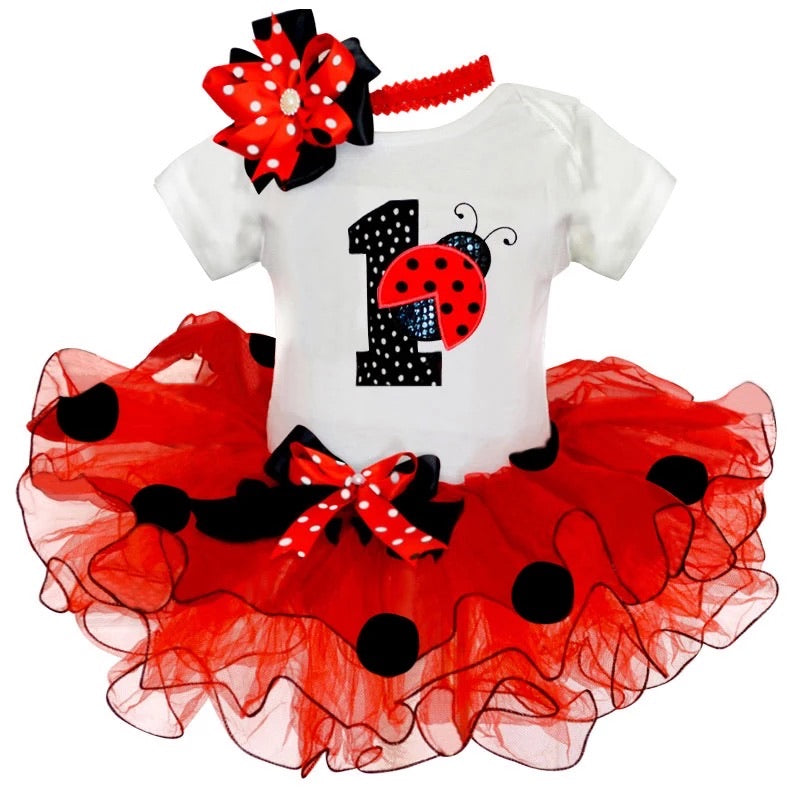 Ladybird First Birthday Outfit
