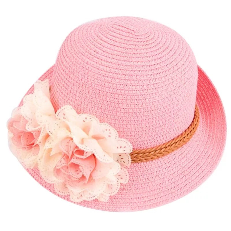 Girls straw hat (assorted)