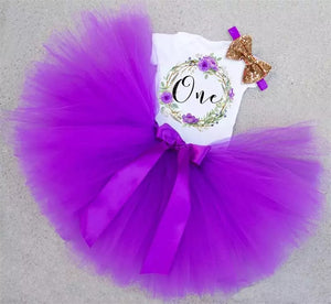 Purple Vintage 'One' Outfit