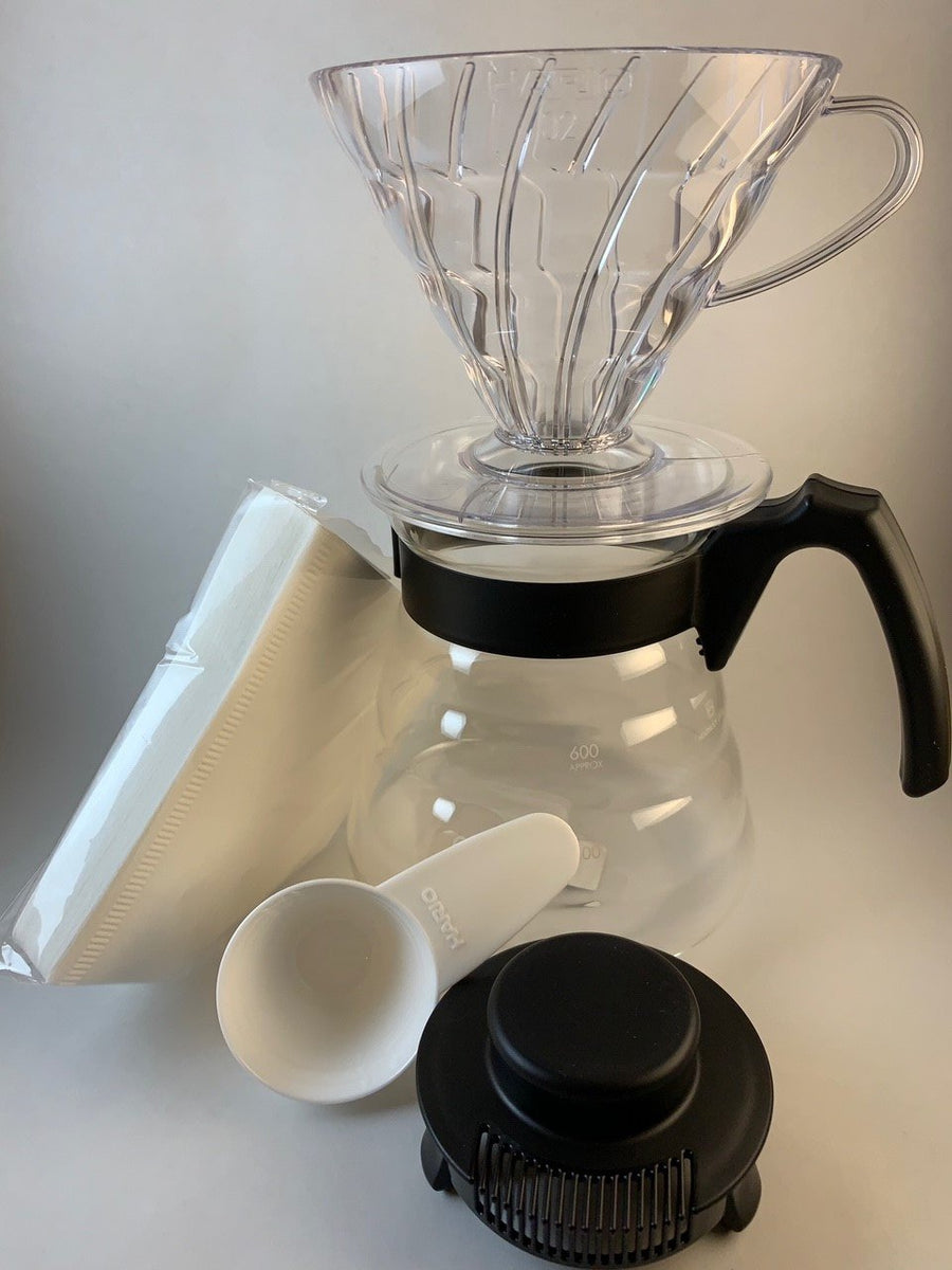 Hario-V60-madison-wisconsin-coffee-maker kit unboxed