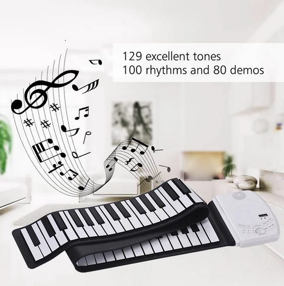 70% OFF-1:1 88 Keys Midi Electronic Roll up Piano Silicone Keyboard(BUY 2 SAVE $30)