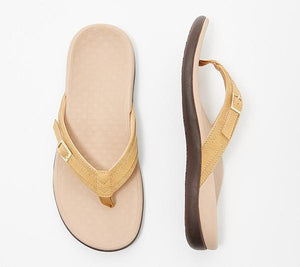 Comfy Thong Sandals with Buckle Detail