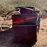The Postman | Waxed Canvas Bag-Little Echidna Home-The Red Road Collective