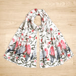 Australian Pink and Grey Galah Scarf-Scarf-The Red Road Collective