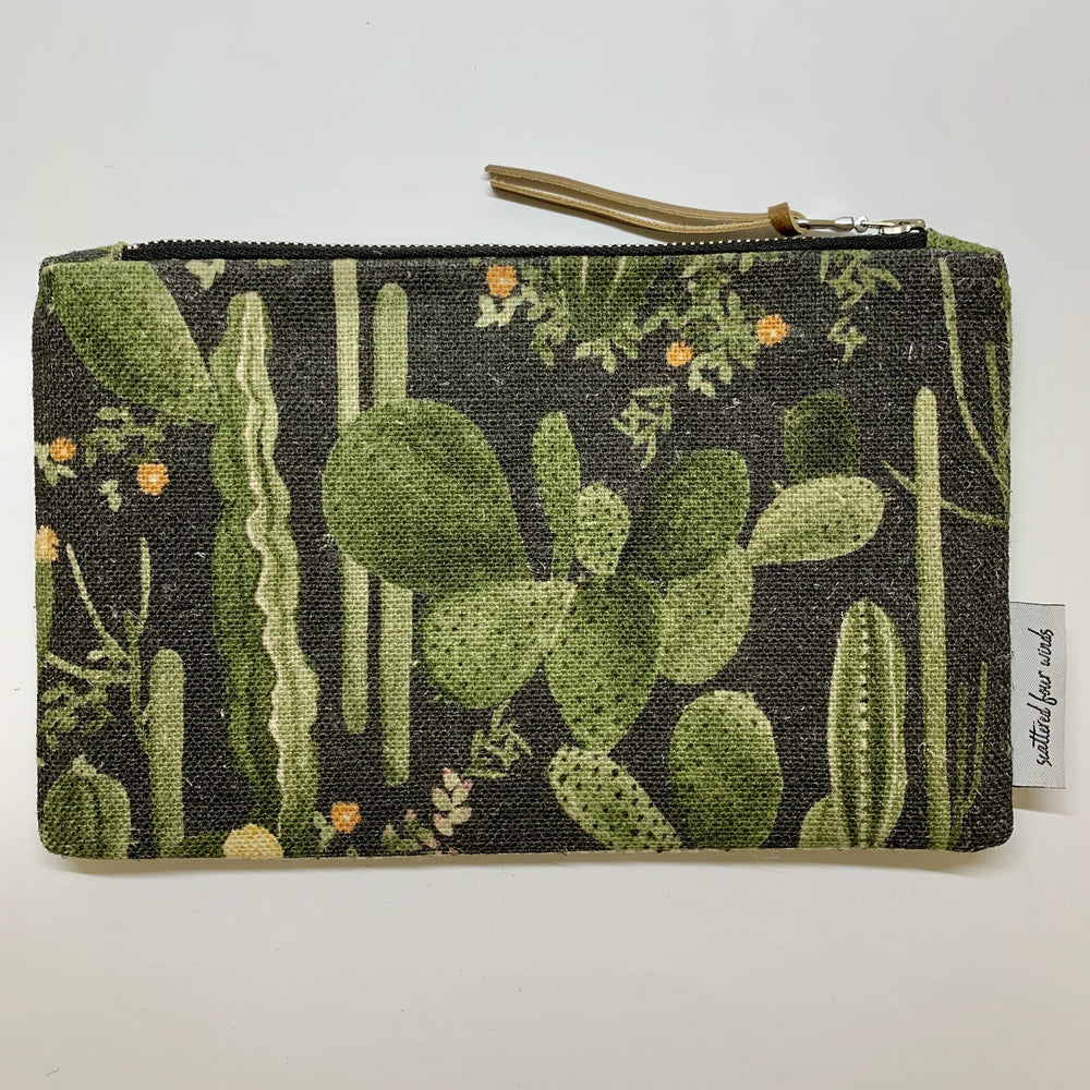 Scattered Four Winds - Handmade Clutch Cacti Dark