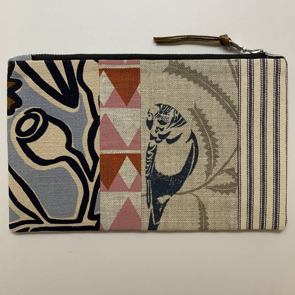 Patchwork Budgie Clutch with Gumnut and Pink