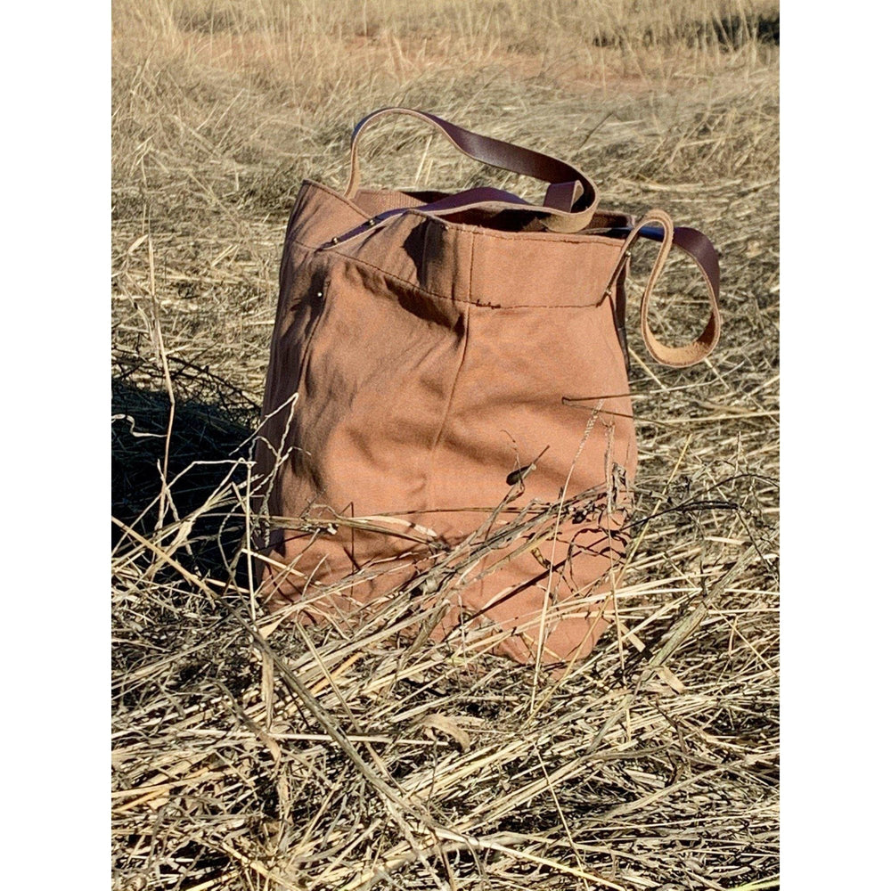 Sandy | Waxed Canvas Bag-Little Echidna Home-The Red Road Collective