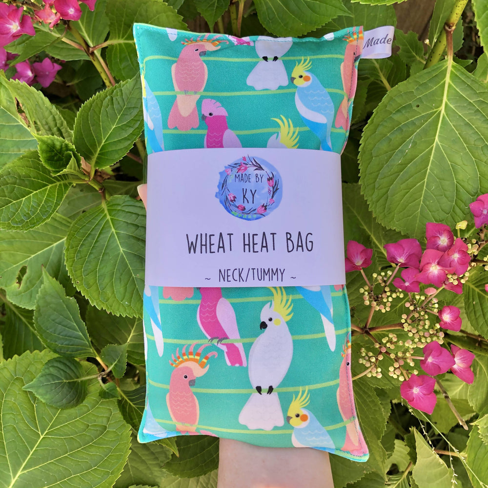 Wheat Heat Bag - Birds on a Wire Green - Regular