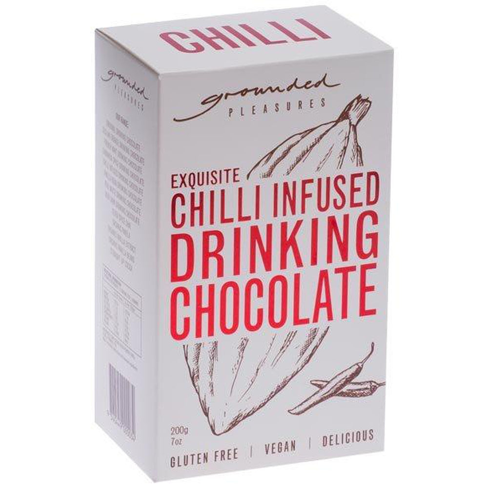 Chilli Infused Drinking Chocolate 200gm-Grounded Pleasures-The Red Road Collective