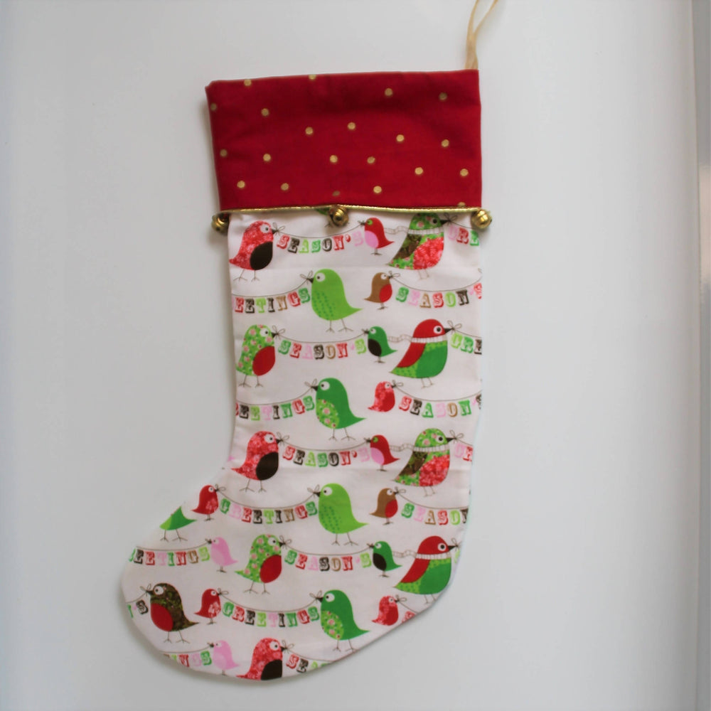 Chirpy Greetings | Christmas Stocking-Christmas Stocking-The Red Road Collective