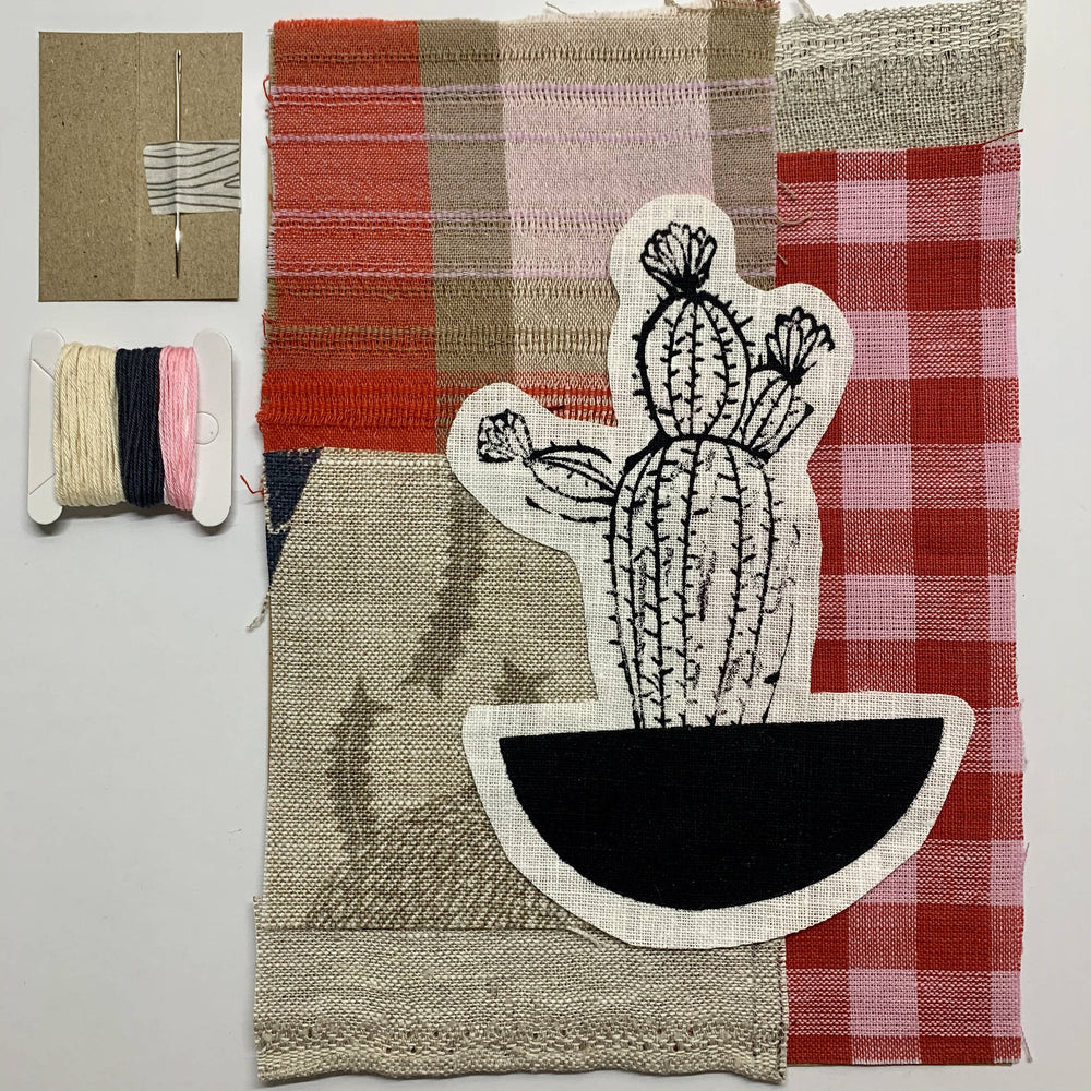 Slow Stitching Kit I Doops Cactus 7-Slow Stitching Kit-The Red Road Collective