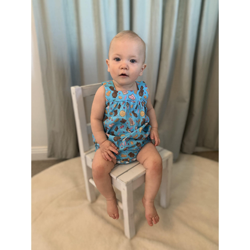 Ready to Post | Aussie Treats Romper | Derry Downs Handmade |