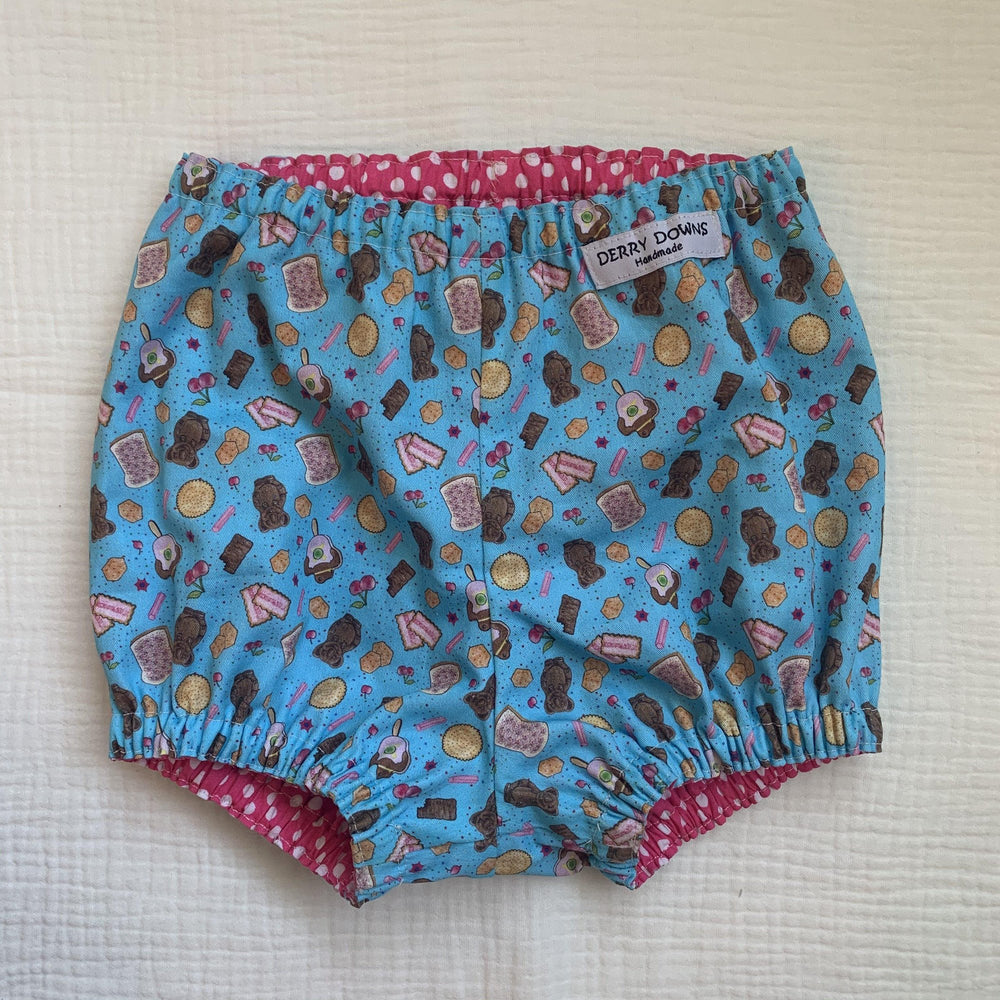 Ready to Post | Reversible Bummers | Size 6-12M | Derry Downs Handmade |
