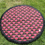 Black Warratah | Cotton Backing |Play mat-Picnic blanket |Play mat-The Red Road Collective