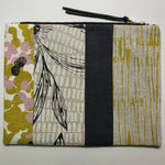 Patchwork Botanical Clutch with Hakea and Mustard-Scattered Four Winds-The Red Road Collective