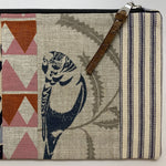 Patchwork Budgie Clutch with Gumnut and Pink-Scattered Four Winds-The Red Road Collective