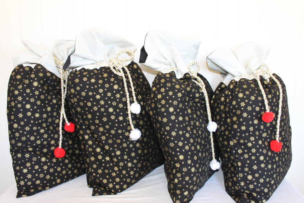 Gold Snowflake set of 4 | Santa Sack
